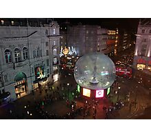 Piccadilly Snow Globe Photographic Print