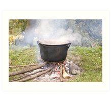 Something cooking Art Print