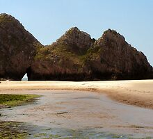 3 cliffs bay, penmaen by mik27rc1