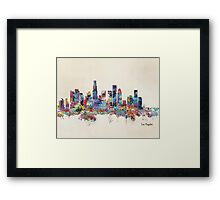 los angeles california  Framed Print