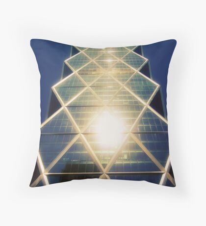 Geometrical building Throw Pillow