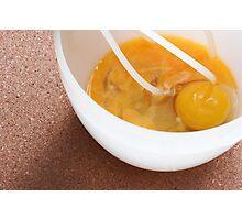 Eggs Bowl & Whisk Photographic Print