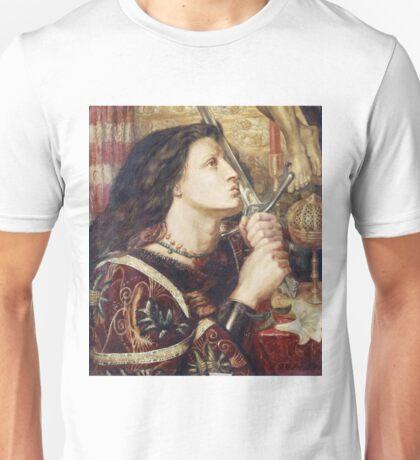 Dante Gabriel Rossetti - Joan Of Arc Kissing The Sword Of Deliverance Unisex T-Shirt