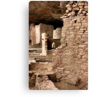 Cliff Ruins Canvas Print