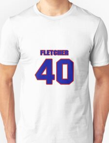 National Hockey player Steven Fletcher jersey 40 T-Shirt