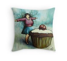 The Fairy of Cakes Throw Pillow