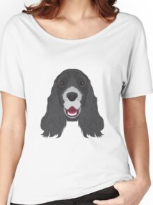 Black Cocker Spaniel Women's Relaxed Fit T-Shirt