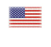 AMERICAN FLAG, FADED, USA, AMERICA, STARS & STRIPES, PURE & SIMPLE Photographic Print