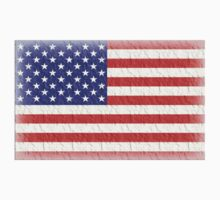 AMERICAN FLAG, FADED, USA, AMERICA, STARS & STRIPES, PURE & SIMPLE Kids Clothes
