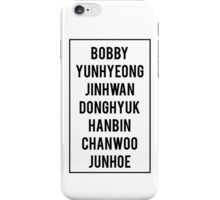iKON - OT7 Names (black) iPhone Case/Skin