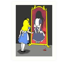 Madness through the looking glass Art Print