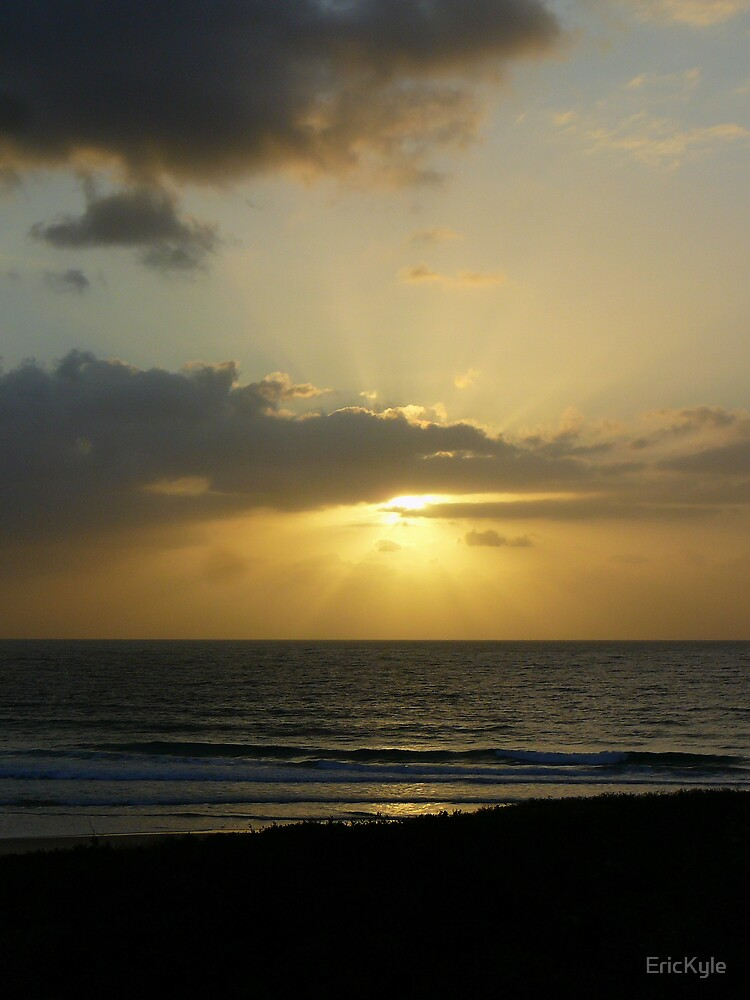 MORNING SUN RAYS SURROUNDING CLOUD by EricKyle