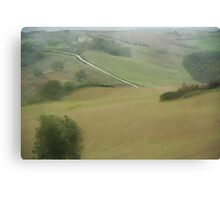 On the road to Volterra - Toscana  Canvas Print