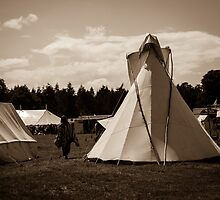 Girl and Tipi  by McLiz