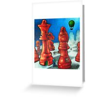 The Chess People Greeting Card