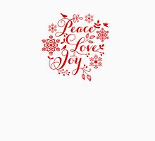 Peace, Love, Joy, Merry Christmas  Womens Fitted T-Shirt