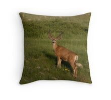Velvety Stag Throw Pillow