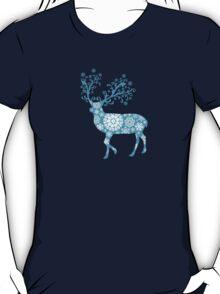 Turquoise blue Christmas deer T-Shirt
