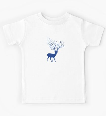 Blue deer Kids Tee