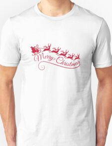 Merry Christmas, Santa Claus with his sleigh Unisex T-Shirt