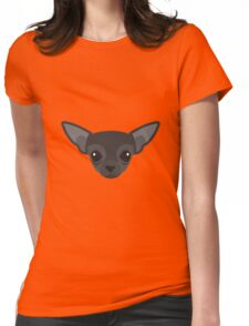 Black Chihuahua Womens Fitted T-Shirt