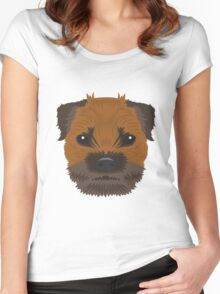 Border Terrier  Women's Fitted Scoop T-Shirt