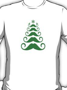 Mustache Christmas tree design T-Shirt