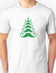 Mustache Christmas tree design Unisex T-Shirt