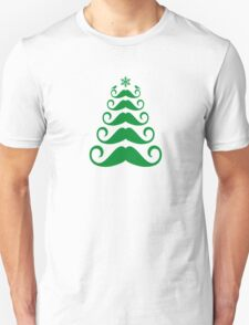Mustache Christmas tree design T-Shirt