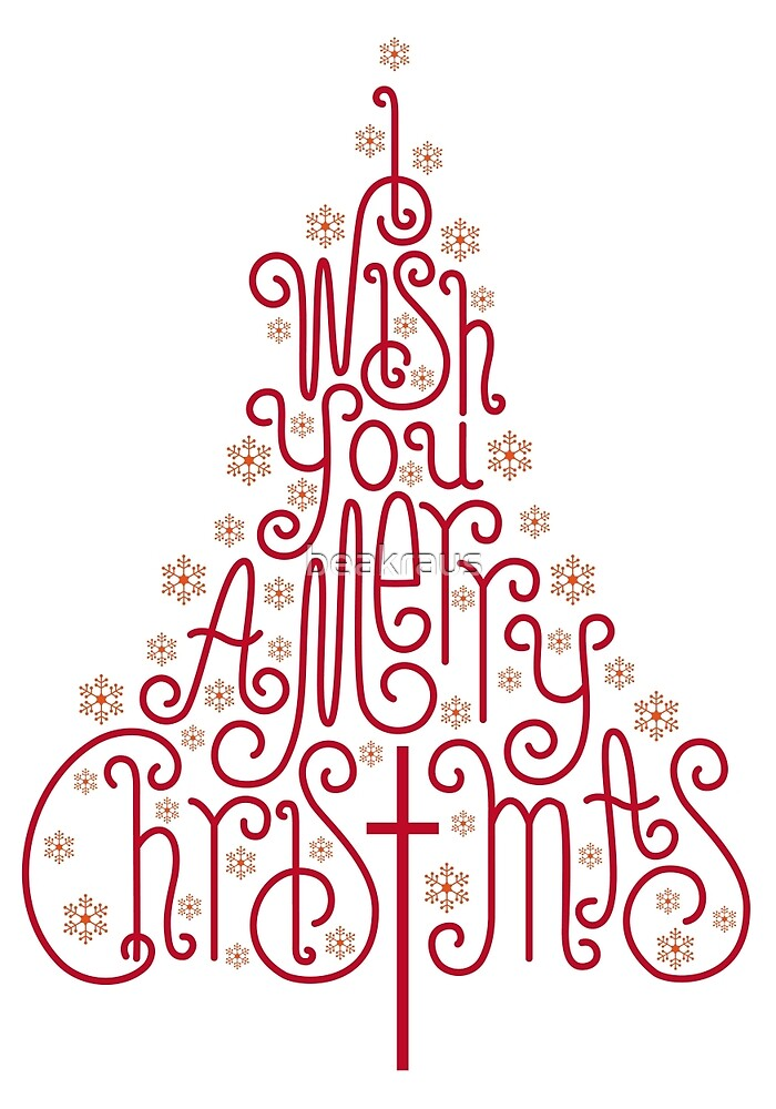 Quottypographic christmas tree with hand drawn lettersquot by for Christmas tree letters