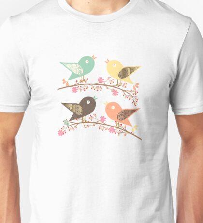 Four birds Unisex T-Shirt
