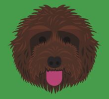 Brown Labradoodle Kids Tee