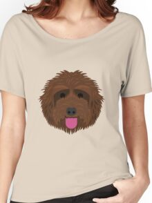 Brown Labradoodle Women's Relaxed Fit T-Shirt