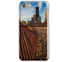Dunes Fence leads to Chicago skyline iPhone Case/Skin