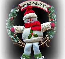 Merry Christmas from Winter Woolly Snowman by ScenicViewPics