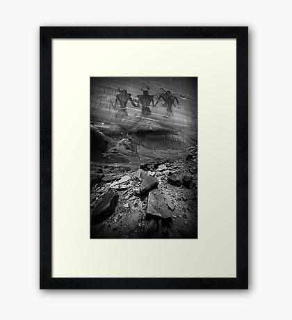 Fremont Indian Pictographs Framed Print