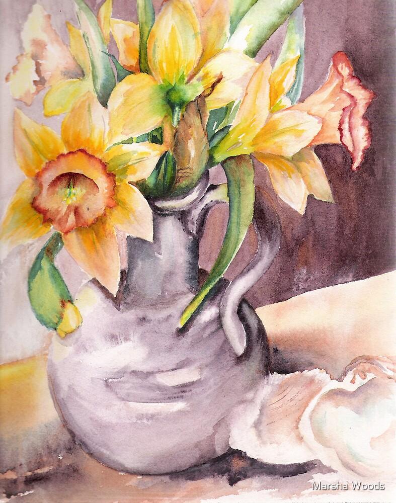 Daffodil Still Life by Marsha Woods