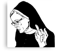 Sister Jude Middle Finger Canvas Print