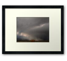 Wind Ghosts and the Fire Bush Framed Print