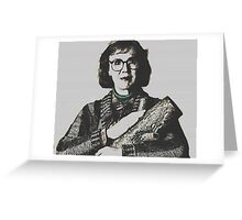 Twin Peaks Log Lady Greeting Card