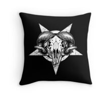 Pentangle - Pentagram / Goat Throw Pillow
