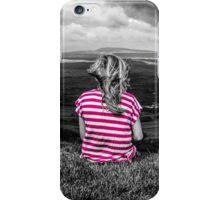 Pink Mountain Girl iPhone Case/Skin