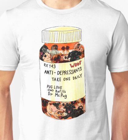 Daily Dose Pug Illustration Unisex T-Shirt
