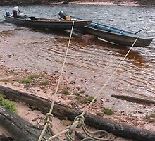 Tethered Canoes by simonc