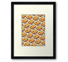 Buttered Toast Pattern Framed Print