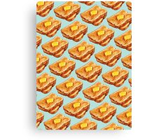 Buttered Toast Pattern Canvas Print