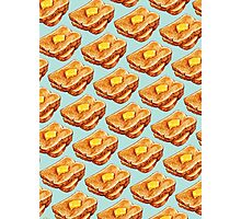 Buttered Toast Pattern Photographic Print