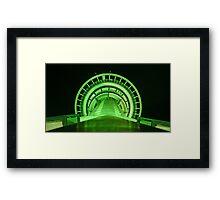 Green Runway Framed Print