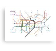 London Underground Pixel Map Metal Print