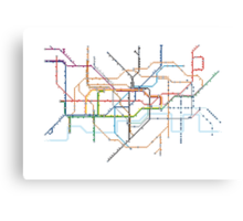 London Underground Pixel Map Canvas Print
